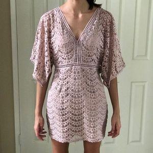 New Theyskens' Theory dusty rose lace cutout dress